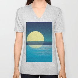 Night at the sea Unisex V-Neck