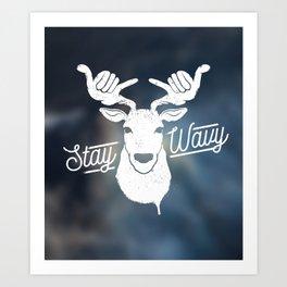 Stay Wavy Oceanic Art Print