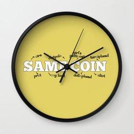 Same Coin - Yellow Wall Clock