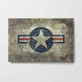 US Airforce style Roundel insignia V2 Metal Print
