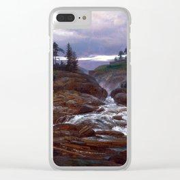 Johan Christian Dahl The Lower Falls of Labrofoss Clear iPhone Case