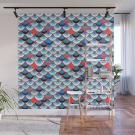 Beautiful abstract vector illustration with curls and waves Wall Mural