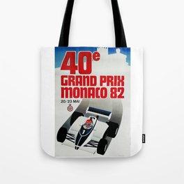 Gran Prix de Monaco, 1982, original vintage poster Tote Bag