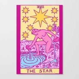 The Star - A Femme Tarot Card Canvas Print