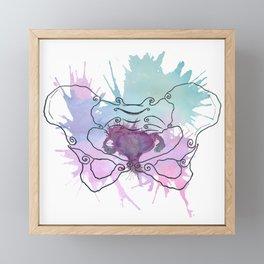 Uterus Splat Framed Mini Art Print
