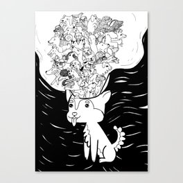 Crisis of Infinite Dogs Canvas Print