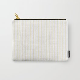 Gardenia Cream Pinstripe on White Carry-All Pouch