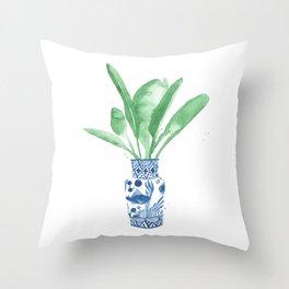 Ginger Jar + Bird of Paradise Throw Pillow