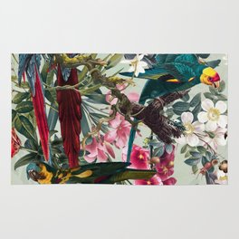 FLORAL AND BIRDS XXII Rug