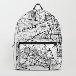 Warszawa Map White Backpack