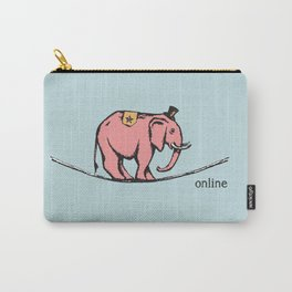 'Online' from the RetroTech Series by DaMoJo.co Carry-All Pouch