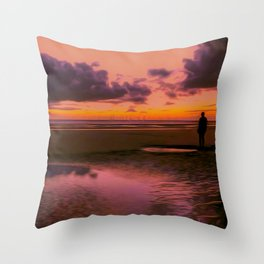 Another place at sunset Throw Pillow