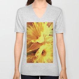 Daffodils In Spring Unisex V-Neck