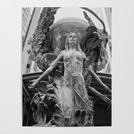 Downtown Statues Poster