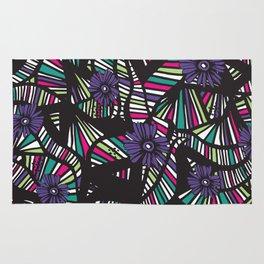 Lined Art Floral Rug