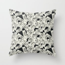 Conversational (Money) : TM17085 Throw Pillow