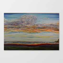 Chromatic Sunset Canvas Print