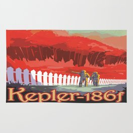 Kepler-186 : NASA Retro Solar System Travel Posters Rug