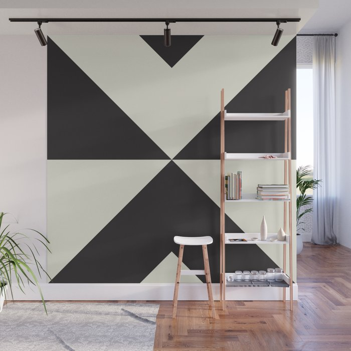 Split X Black Wall Mural