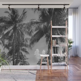 Palm Trees Black and White Photography Wall Mural