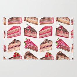 Cake Slices – Pink & Brown Palette Rug