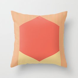 Red Hex Throw Pillow