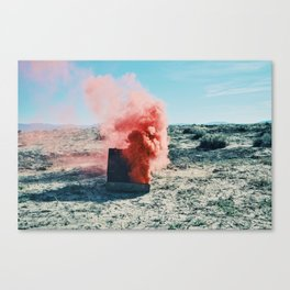PINK SMOKE - SUIT CASE Canvas Print