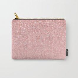 Rose Gold Glitter Cascade Carry-All Pouch