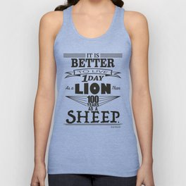 One Day as a Lion Unisex Tank Top