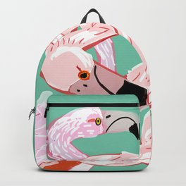 A flamingo never changes his Pink Backpack