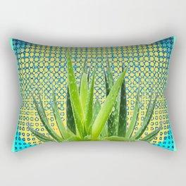 MODERN ALOE VERA SUCCULENT OPTICAL ART Rectangular Pillow