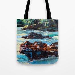 Toby Waters creek painting by Dennis Weber / ShreddyStudio Tote Bag
