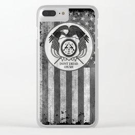 Faith Hope Liberty & Freedom Eagle on US flag Clear iPhone Case