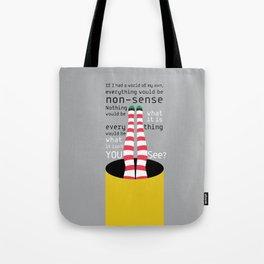 Tunnel Ride - Alice in Wonderland Tote Bag