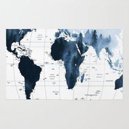 ALLOVER THE WORLD-Woods fog map Rug