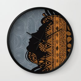 Tribal Dreams by Viviana Gonzalez & Pom Graphic Design Wall Clock