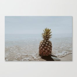 pineapple at the beach iii Canvas Print