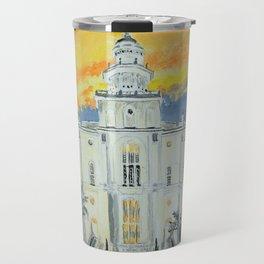 St George Utah LDS Temple Travel Mug