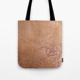 Floral copper Tote Bag