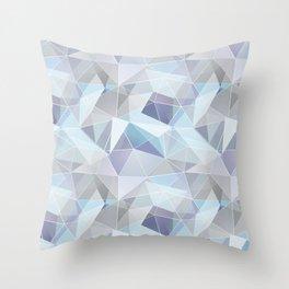 Broken glass in blue. Throw Pillow