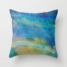 Sunrise Fire Opal Abstract Throw Pillow