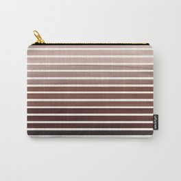 Watercolor Gouache Mid Century Modern Minimalist Colorful Raw Umber Stripes Carry-All Pouch