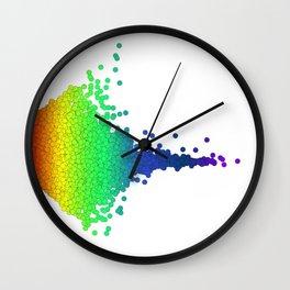 Rainbow Volcano Coral Genes Wall Clock