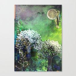 Secret life of (Green) Trees Canvas Print