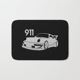 Porsche 911 - silver - Bath Mat