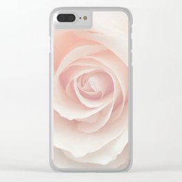 Blush Pink Rose Clear iPhone Case