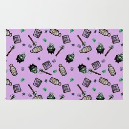 Purple Witches Brew & Fairy Dust Pattern Rug