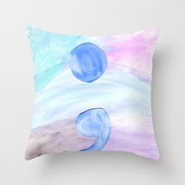 Semi Colon Throw Pillow