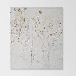 little flower Throw Blanket