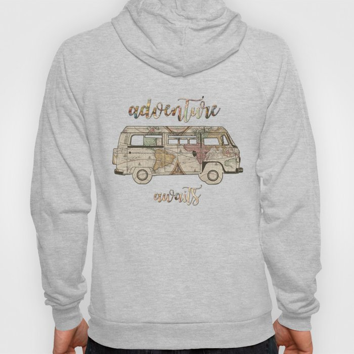 adventure awaits world map design 1 Hoody